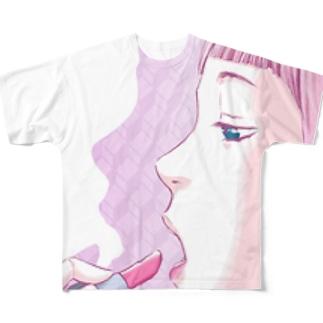 マユツバ少女 Full graphic T-shirts