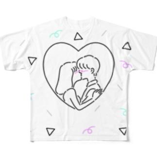 キスからはじまる物語 フルグラフィックTシャツ