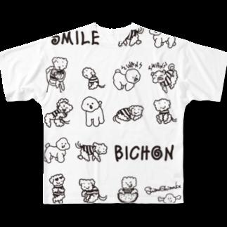 parkmansionのshimashima01フルグラフィックTシャツ