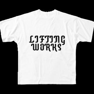 LIFTING WORKSのLIFTING WORKSロゴ Full graphic T-shirts