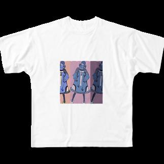 masaki🃏の女は強ぇな Full graphic T-shirts