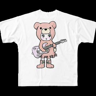 Suzuki Satomi イラストショップのベアミちゃん Full graphic T-shirts