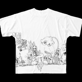 Tsuna ⁂のたのしい童話 Full graphic T-shirts