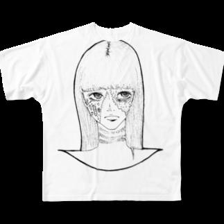 Tsuna ⁂のハロウィンゾンビ女その2 Full graphic T-shirts