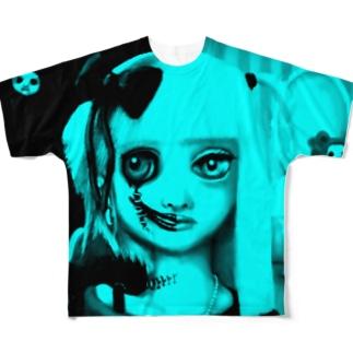 はんぶんこ Full graphic T-shirts