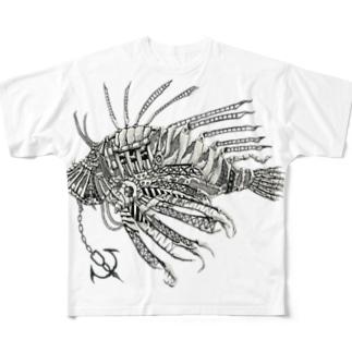 ミノカサゴ Full graphic T-shirts
