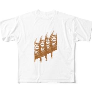 猫3 フルグラフィックTシャツ