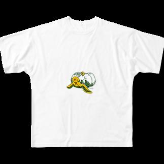 Hori shopのかぼちゃん Full graphic T-shirts