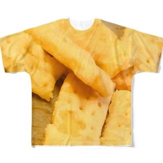 ジャガイモのショートブレッドド Full graphic T-shirts