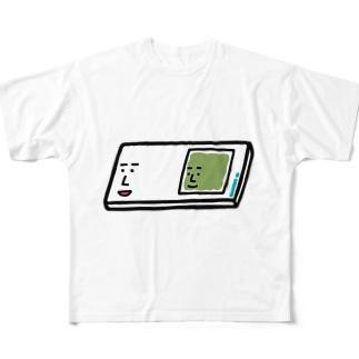 キャラNo.57プレパラートくん(スライドガラスとカバーガラスくん) フルグラフィックTシャツ