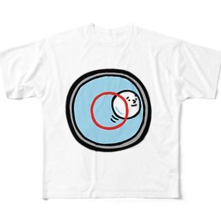 キャラNo.53水準器の中の気泡くん  フルグラフィックTシャツ