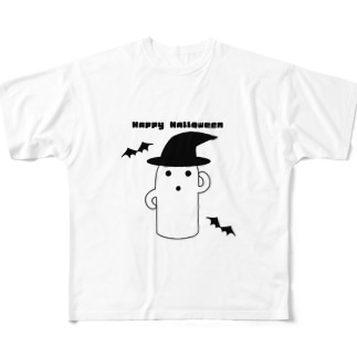 白いハニワ【ハロウィン】 フルグラフィックTシャツ