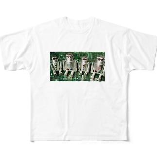 ロボット工場KOBE銀河堂ドカン君 Full graphic T-shirts