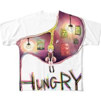 空腹少女 Full graphic T-shirts