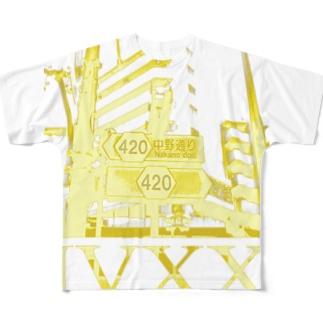中野通り420 Full graphic T-shirts