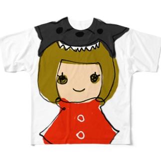 くーちゃんとわたし フルグラフィックTシャツ
