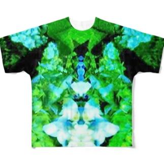 抽象模様 フルグラフィックTシャツ