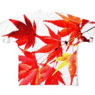 紅葉 フルグラフィックTシャツ