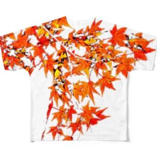 紅葉2 フルグラフィックTシャツ