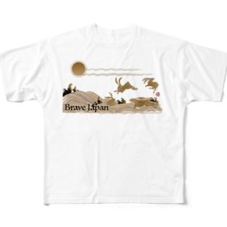USAGI  LIGHT COLOR VERSION フルグラフィックTシャツ
