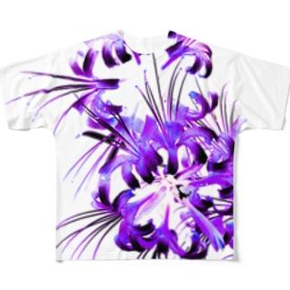 彼岸花透過 フルグラフィックTシャツ