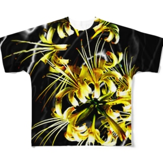 彼岸花 フルグラフィックTシャツ