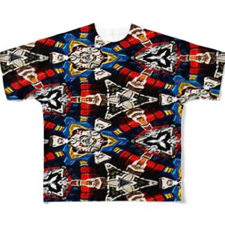 サイケ模様 フルグラフィックTシャツ