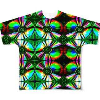 CD模様 フルグラフィックTシャツ