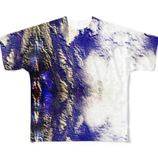 雲模様 フルグラフィックTシャツ
