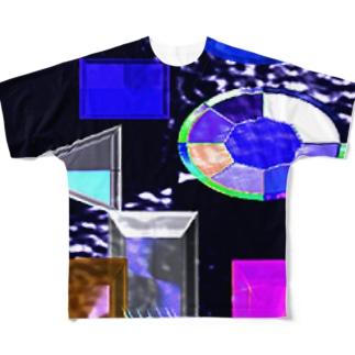 クリスタル フルグラフィックTシャツ