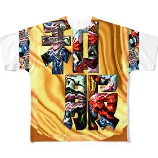 文字 フルグラフィックTシャツ