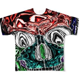 スカル フルグラフィックTシャツ