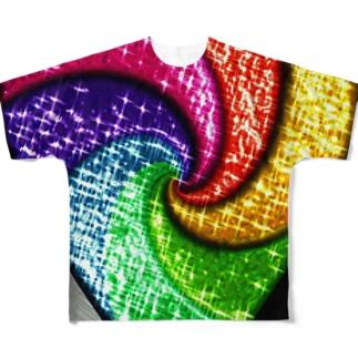 ハート フルグラフィックTシャツ