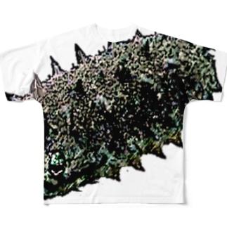 人面魚ならぬ人面海鼠 Full graphic T-shirts