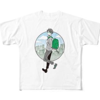眼鏡男子 Full graphic T-shirts