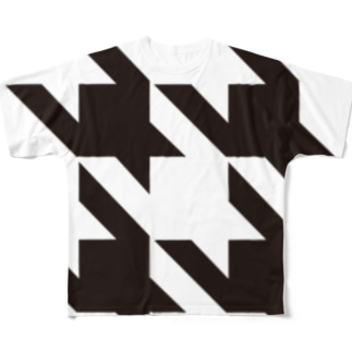 Houndtooth Full graphic T-shirts