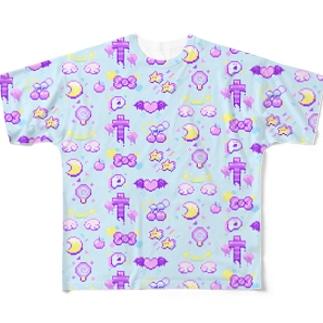 ファンシー8BITものぐらむ フルグラフィックTシャツ
