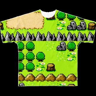 ヌンのフィールドマップマン(8BIT) フルグラフィックTシャツ