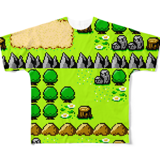 ヌンのフィールドマップマン(8BIT) Full graphic T-shirts