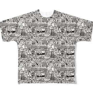 monster room T フルグラフィックTシャツ
