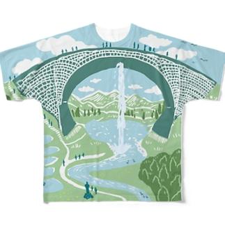 TSUJUNKYO イラストフルカラー Full graphic T-shirts