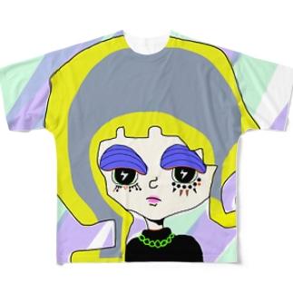 ちょっち不機嫌ちゃん Full graphic T-shirts