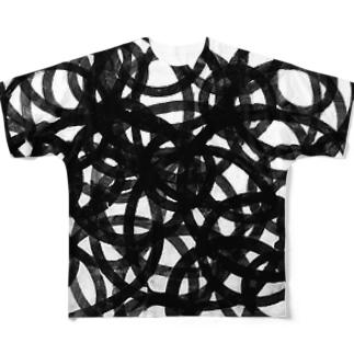 雑交モノ フルグラフィックTシャツ