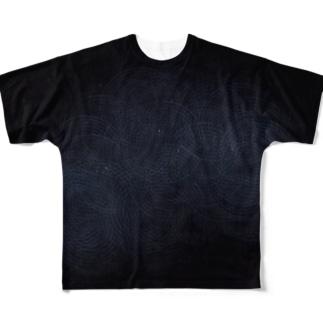 荒模黒 (両面) Full graphic T-shirts