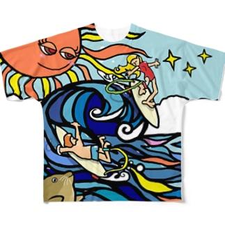 サーフィン Full graphic T-shirts