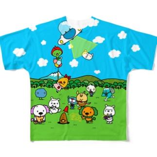 教育アニメをそのまんま着たみたいな フルグラフィックTシャツ