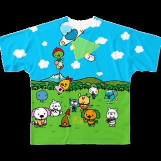 モリヤマ・サルの教育アニメをそのまんま着たみたいな Full graphic T-shirts