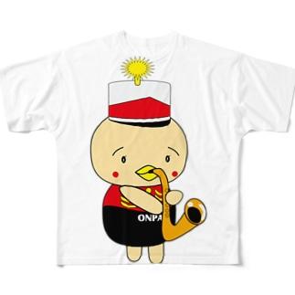 オンパ サックス フルグラフィックTシャツ
