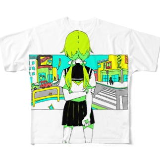 少女と情景 Full graphic T-shirts