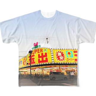 釜ヶ崎スーパー玉出 フルグラフィックTシャツ